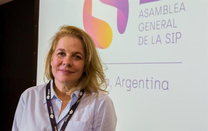 """La presidenta de la SIP, María Elvira Domínguez, consideró """"muy preocupante la medida proveniente de dependencias gubernamentales estadounidenses"""". EFE/Archivo"""