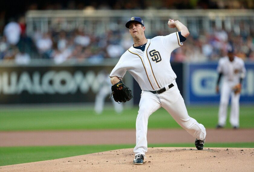 Padres pitcher Drew Pomeranz delivers against the New York Yankees.