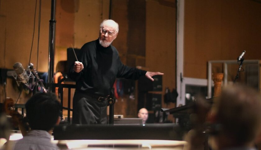 """Composer John Williams, pictured conducting the score for """"Star Wars: The Force Awakens,"""" earned his 50th Oscar nomination."""
