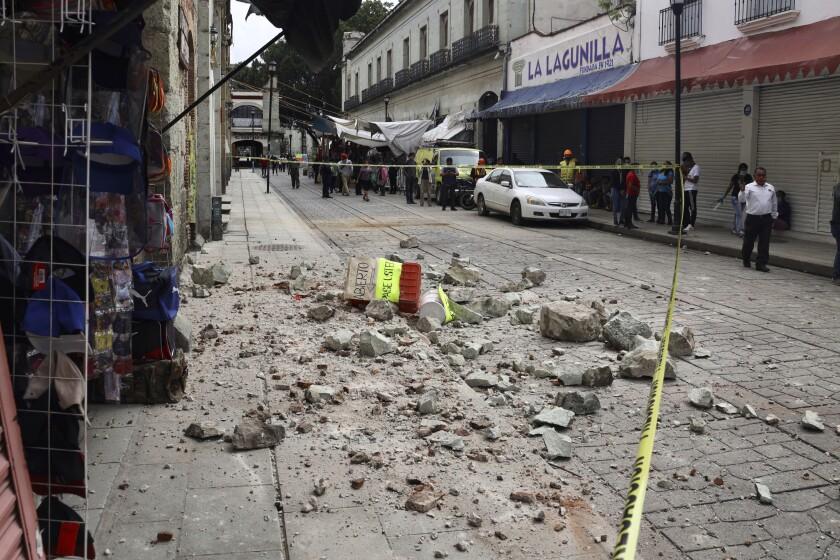 A magnitude 7.4 earthquake struck southern Mexico.