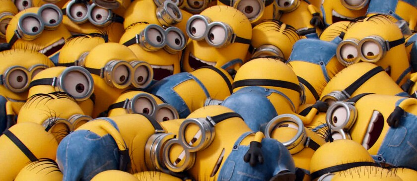 """The animated film """"Minions"""" could bring in more than $95 million this weekend."""