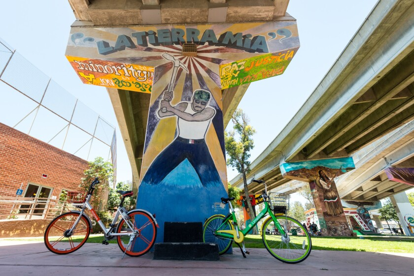 In Barrio Logan, Chicano Park, located beneath the San Diego-Coronado Bridge, features towering murals by local and internationally known artists.