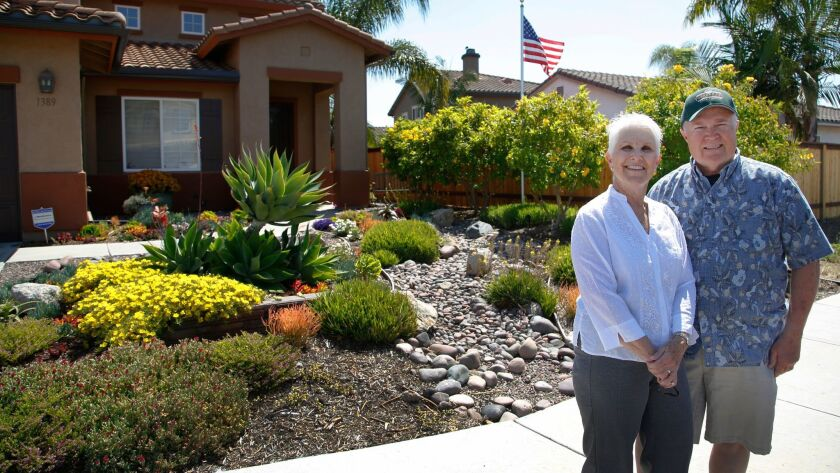 Troy & Jeanne Ray had their front landscape redesigned with a priority for making a drought tolerant