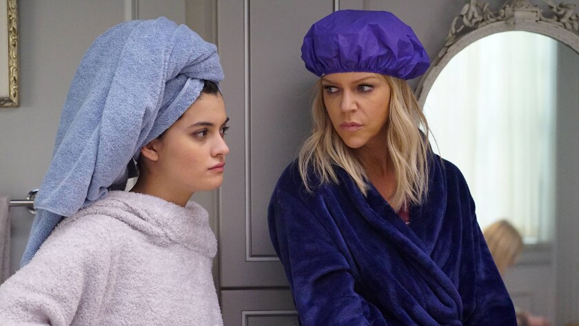 "Sofia Black-D'Elia, left, and Kaitlin Olson  in ""The Mick"" on Fox."
