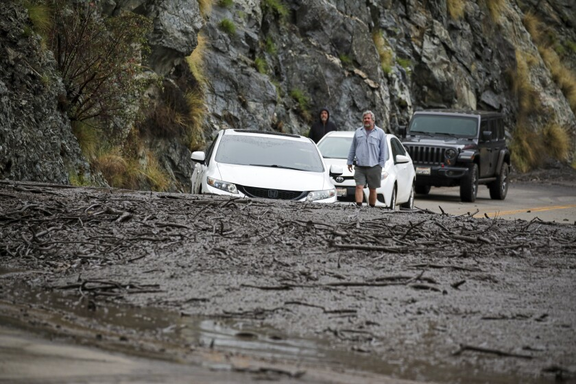 A mudslide in Azusa.