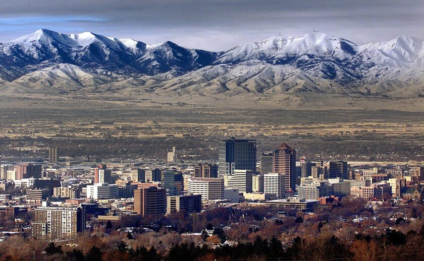 View of Salt Lake City from 2002.