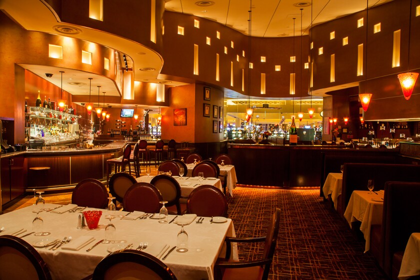 Fiore, at Harrah's Resort SoCal, has a seasonal menu to pair with its wine list.