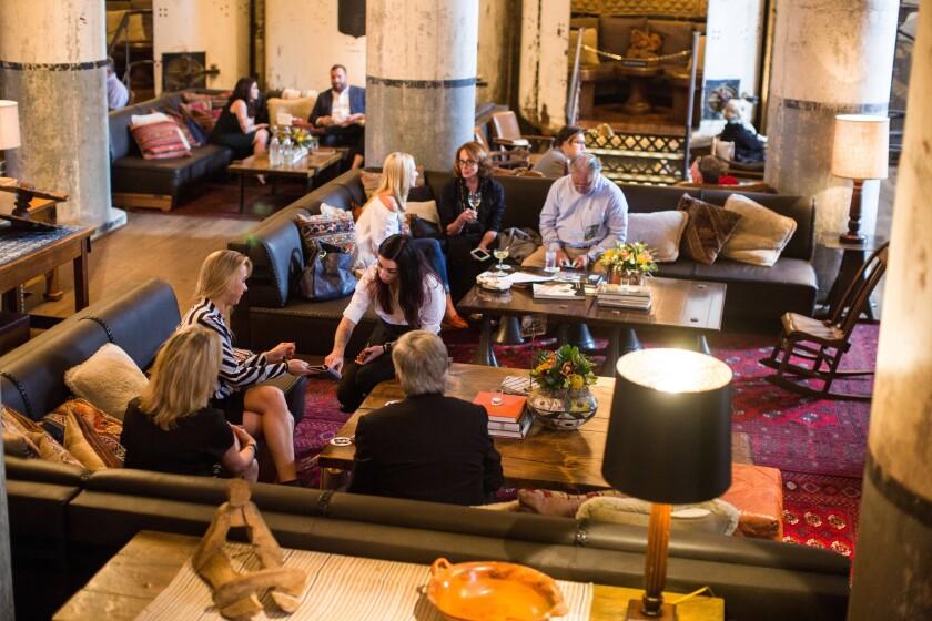 The Sternewirth bar in Hotel Emma invites Pearl District visitors to kick back.