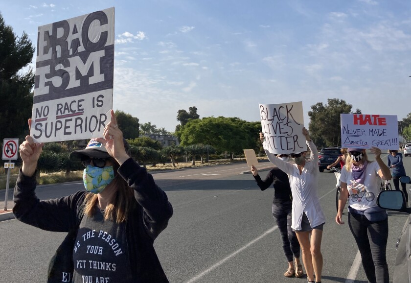 Solana Beach 4 Equality organized a peaceful protest and march in June.