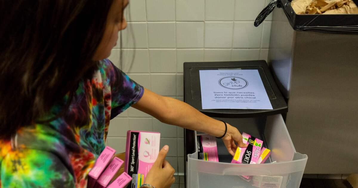 '生理資:'L.A.を提供する場合があり無料タンポン、パッドの公共用バスルーム