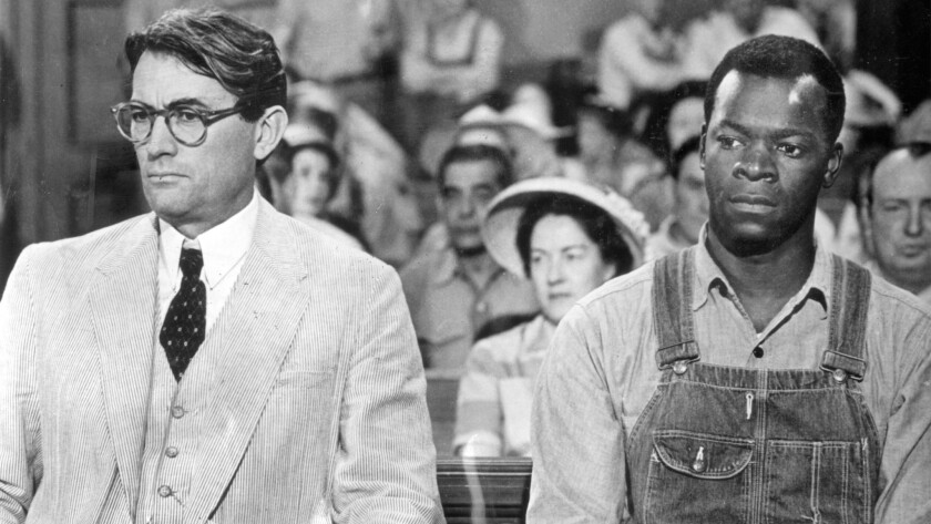 """Gregory Peck and Brock Peters in """"To Kill A Mockingbird."""""""