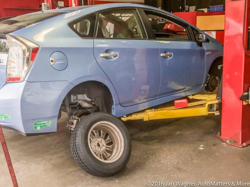 Installing new Bridgestone tires