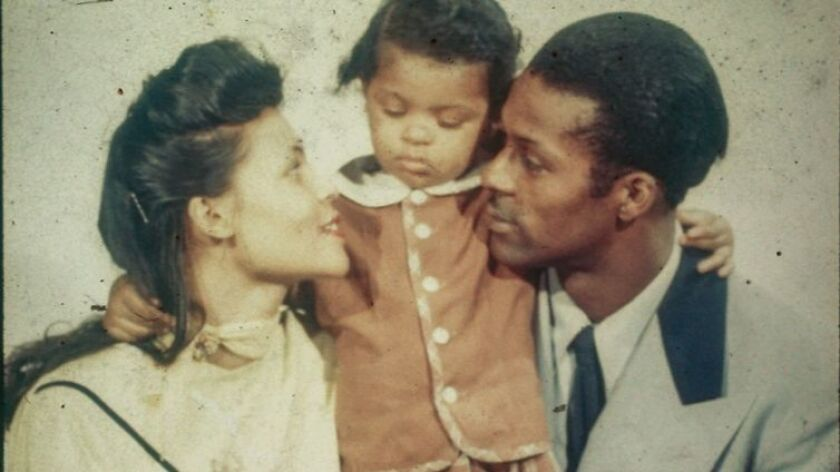 Chuck Berry shown with his wife, Themetta, and daughter, Ingrid