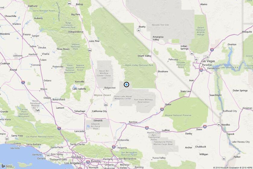 Earthquake: 3.8 quake strikes near Valley Wells, Calif.