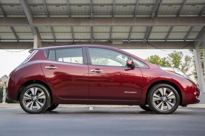 Nissan Leaf del 2016.