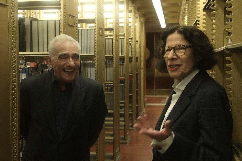 """Fran Lebowitz and Martin Scorsese in """"Pretend It's a City."""""""