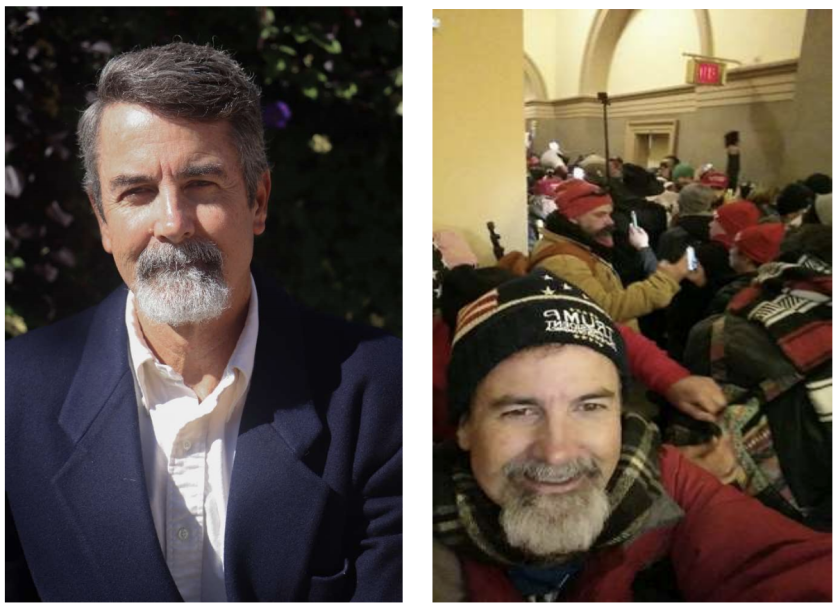 Huntington Beach resident Glenn Allen Brooks was arrested Thursday on suspicion of participating in the Jan. 6 Capitol riot.