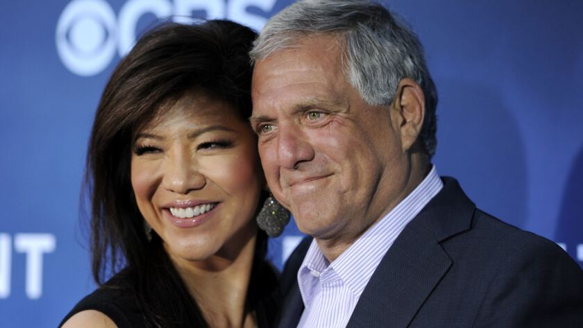 """Julie Chen's exit from """"The Talk"""" follows the ouster of her husband, Leslie Moonves, as head of CBS."""