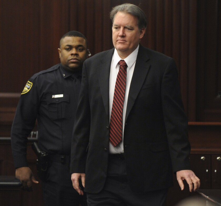 Michael Dunn is seen in the courtroom before the jury reached a verdict on Saturday.