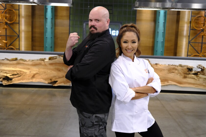 """Carmel Valley's Zuliya Khawaja was teamed up with Isaac Toups on """"Top Chef Amateurs."""""""