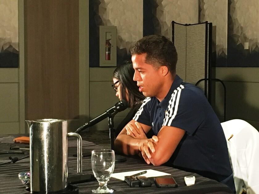 Giovani Dos Santos en Los Ángeles este sábado.