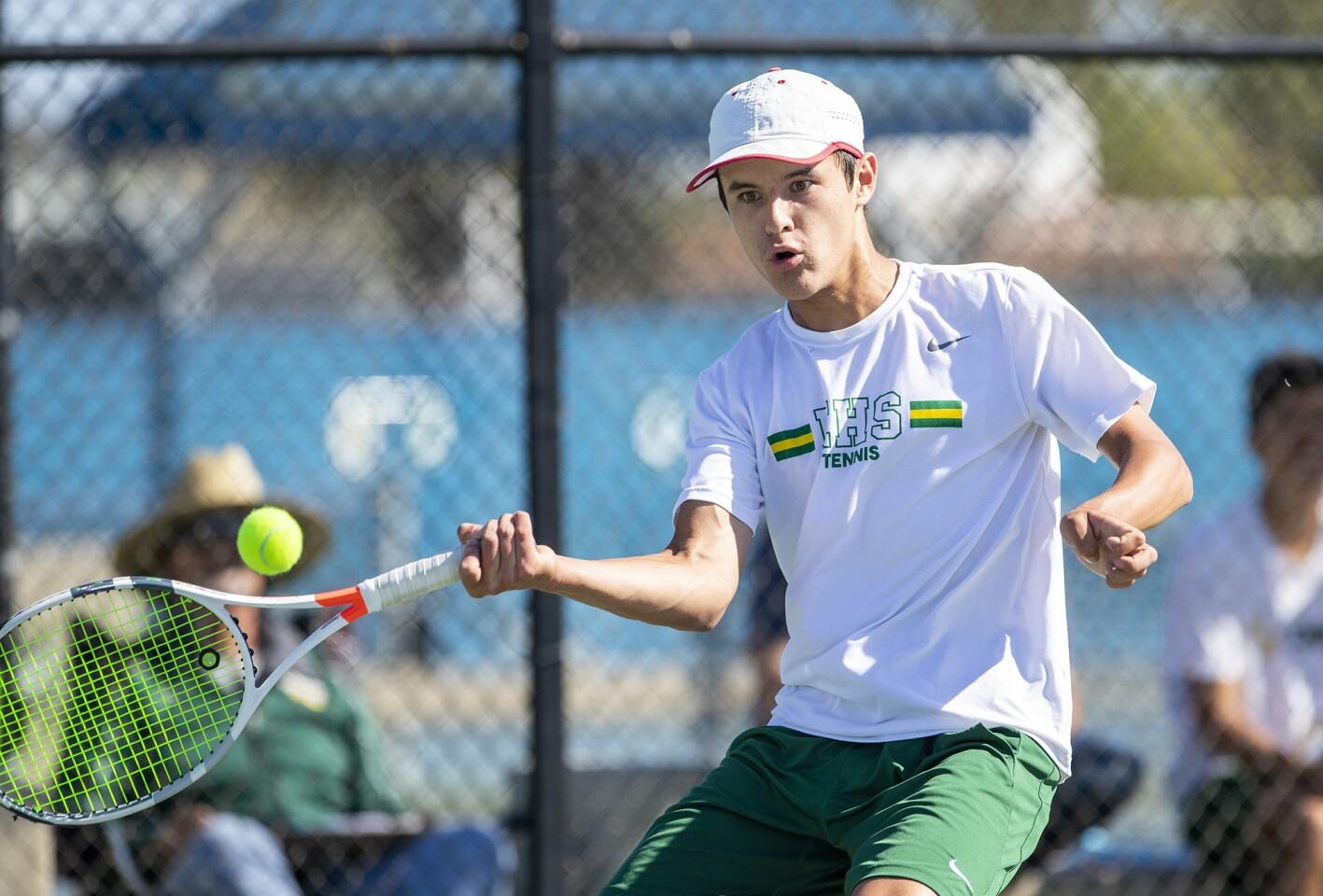 Photo Gallery: Edison vs. Newport Harbor in boys' tennis