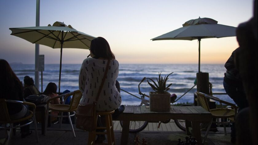 On the Malecon or Paseo Costera in Playas de Tijuana, you can dine in simple seafood restaurants ove
