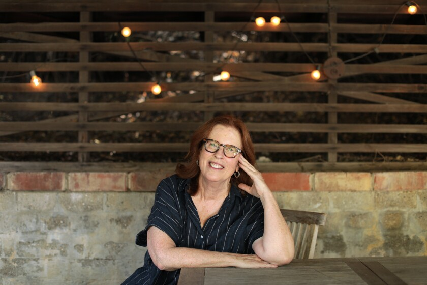 """Pamela Redmond, author of the novel """"Younger"""" and its sequel, """"Older,"""" in Silver Lake."""