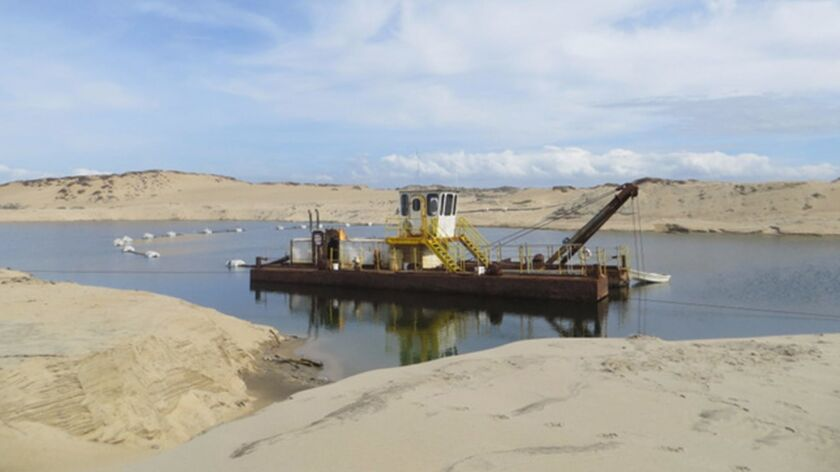 The CEMEX Lapis sand mine in Marina, California is the last remaining coastal sand mining operation