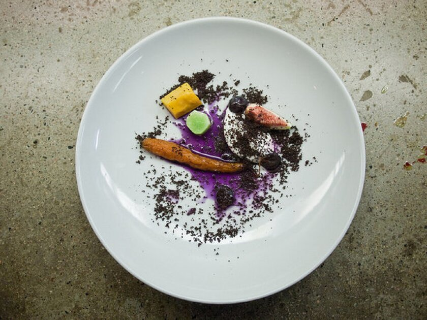 A Wolvesmouth dish prepared by chef Craig Thornton.