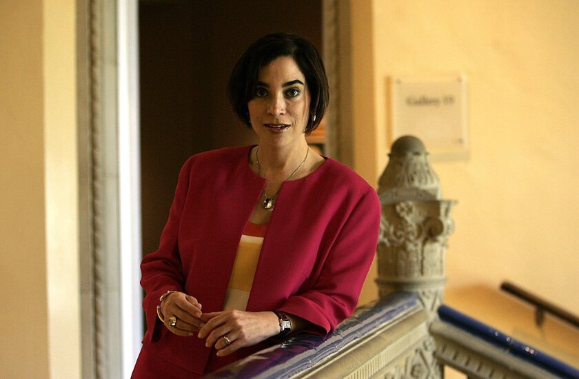 San Diego, CA_5/28/2010_The new director of the San Diego Museum of Art, Roxana Velasquez Martinez del Campo(cq)is photographed in various parts of the museum. John Gastaldo/Union-Tribune)Mandatory Photo Credit: JOHN GASTALDO/Union-Tribune/ZUMA press