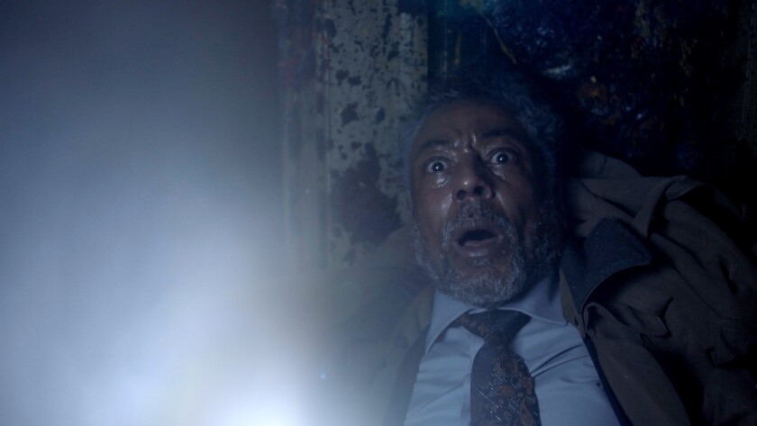 "Giancarlo Esposito in the ""Gray Matter"" episode of the Shudder horror anthology series ""Creepshow."""