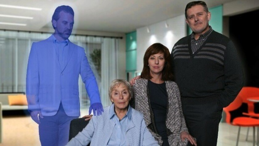 """Marjorie Prime"" cast members Steve Froehlich, Dee Maaske, Elaine Rivkin and Gregory North (from left)."