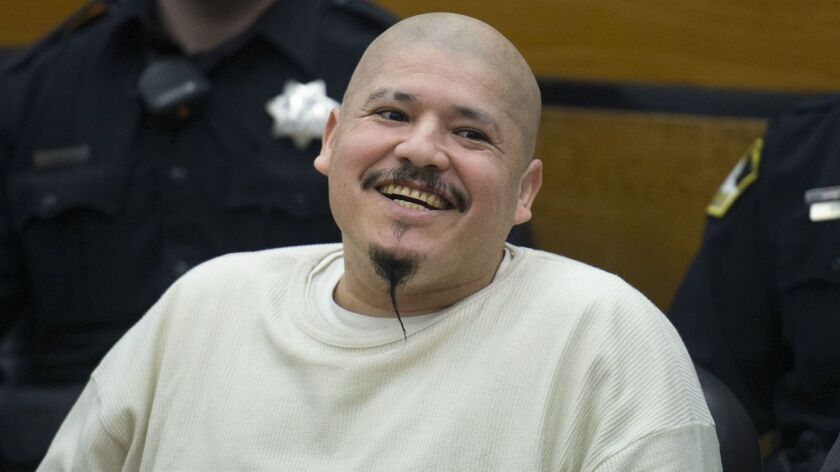 Footage of Luis Bracamontes, who has been sentenced to death in the 2014 slayings of two Northern California law enforcement officers, was featured in President Trump's campaign ad.