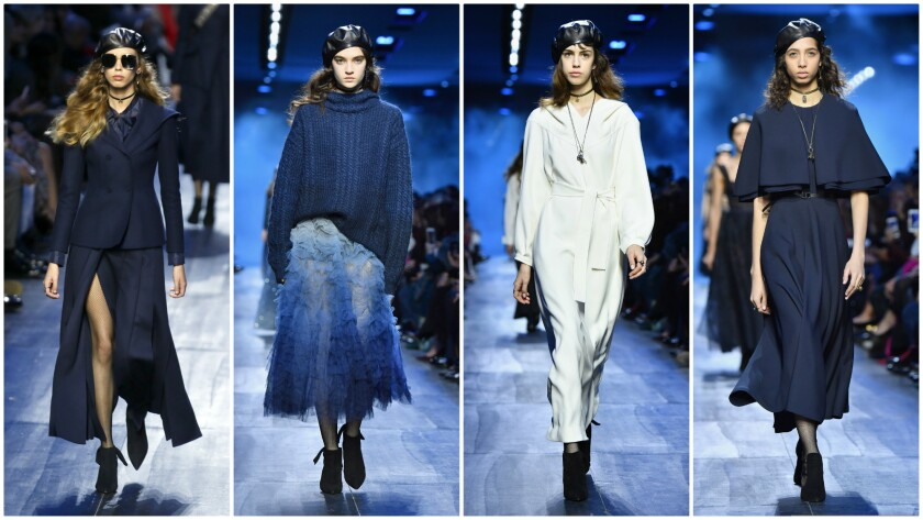 Looks from the fall/winter 2017 Dior women's runway collection, the second with Artistic Director Maria Grazia Chiuri at the helm.