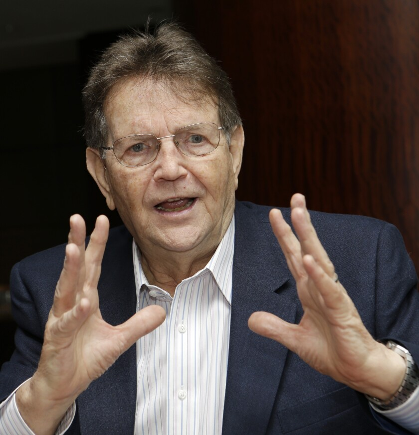 The Rev. Reinhard Bonnke speaks during an interview in Miami in 2014.