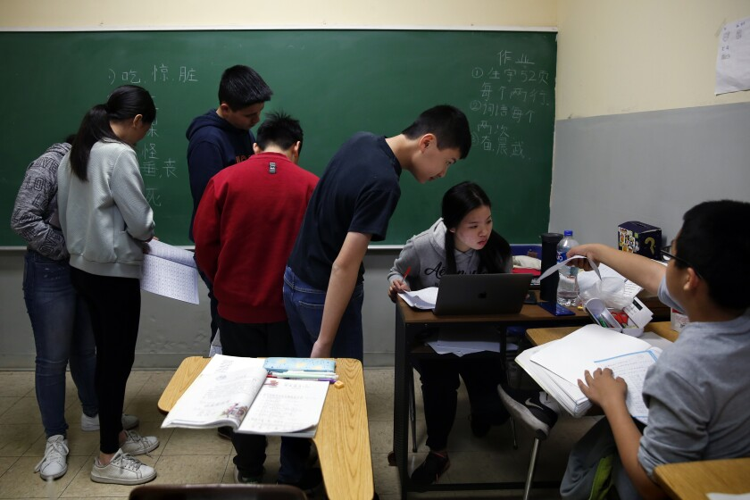 Students at the Chinese Association