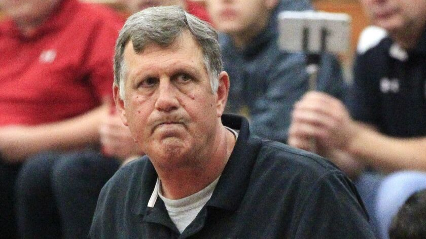 """""""That's a very talented team,"""" Torrey Pines coach John Olive (shown in an earlier game) said of Sierra Canyon. """"We just couldn't keep up."""""""