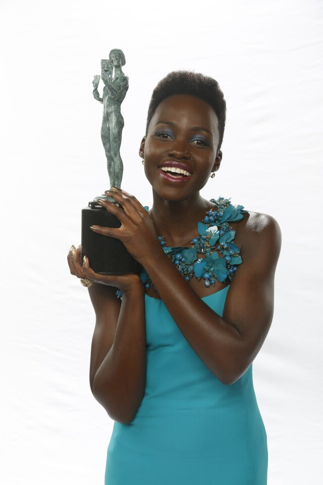 """On the award: """"It's heavy!"""" (Her handler takes the statue and begins to put it on the floor) """"Not on the floor!"""" On her win: """"I feel effervescent."""""""