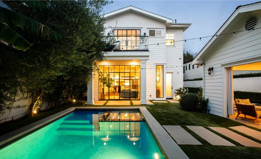 The backyard swimming pool