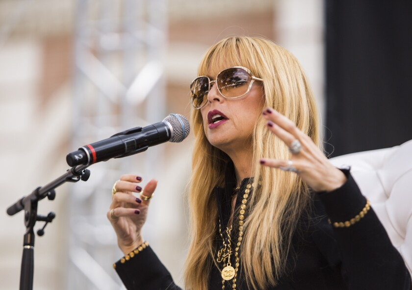 Rachel Zoe, at the Los Angeles Times Festival of Books on Saturday.