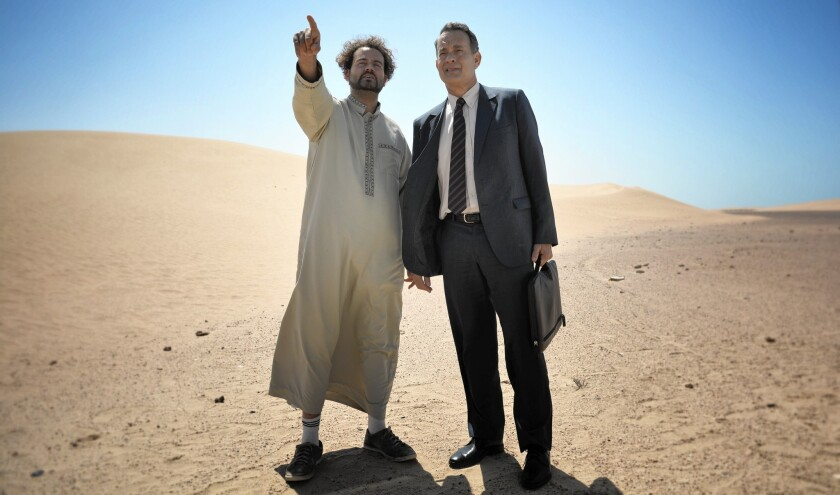 Alexander Black and Tom Hanks in 'A Hologram for the King'