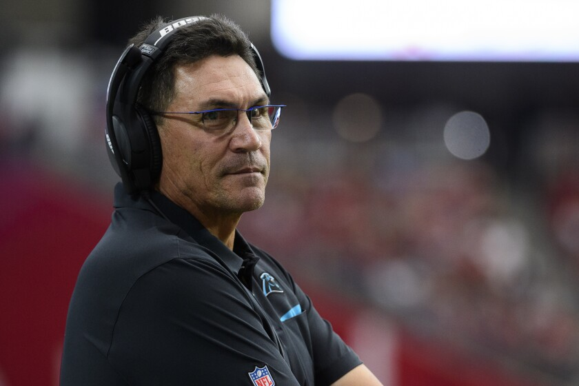 Ron Rivera was hired by the Washington Redskins and was the lone minority hire as an NFL head coach this year.