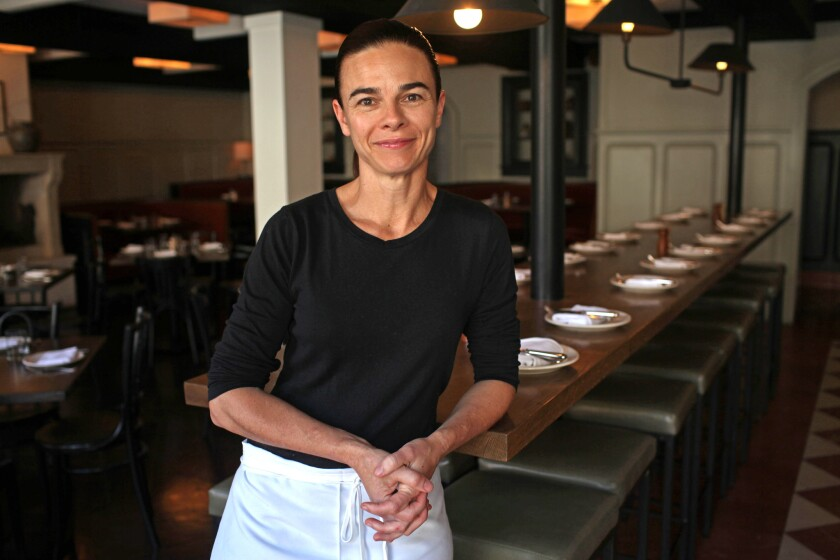 Chef Suzanne Goin at A.O.C., one of her Los Angeles restaurants. Goin won the James Beard Award for Outstanding Chef 2016.