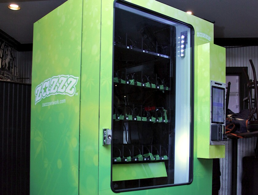 Zazzz is a new automated purchase machine for pot dispensaries.