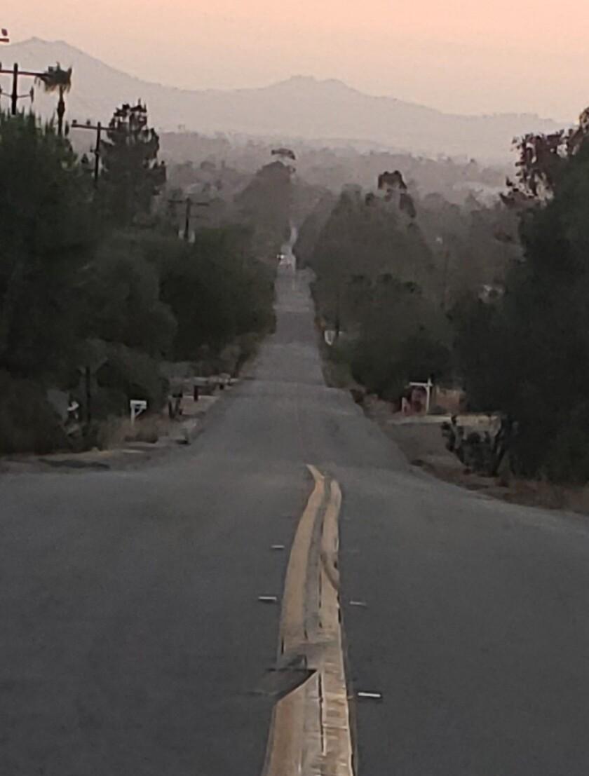 Karen Delia-Mendoza shared this photo she took as she walked down Steffy Road in Ramona.