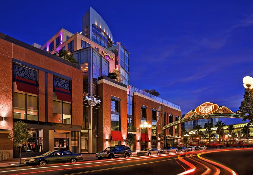 The Hard Rock Hotel in downtown San Diego.