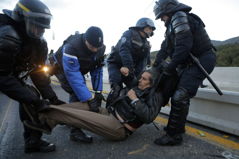 Spain France Protest