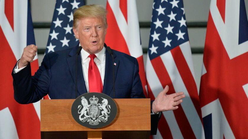 State visit of US President Donald J. Trump to United Kingdom, London - 04 Jun 2019