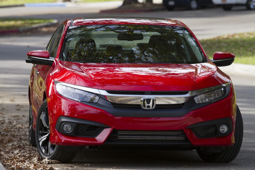 Sales of Honda's new Civic rose nearly 25% in April.